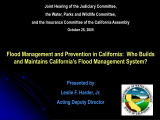 Joint Hearing of the Judiciary Committee,  the Water, Parks and Wildlife Committee,