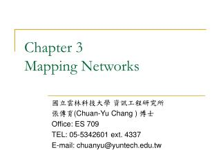 Chapter 3 Mapping Networks