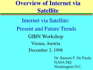 Overview of Internet via Satellite