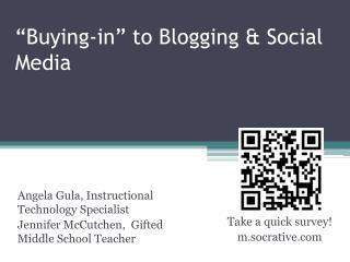 """Buying-in"" to Blogging & Social Media"
