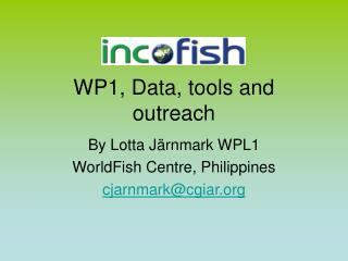 WP1, Data, tools and outreach