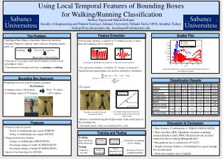 Using Local Temporal Features of Bounding Boxes for Walking/Running Classification