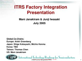 ITRS Factory Integration Presentation