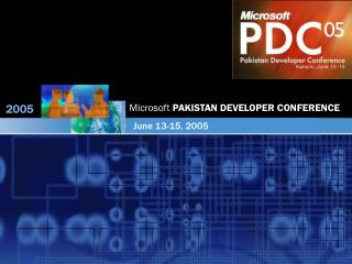 Microsoft  PAKISTAN DEVELOPER CONFERENCE