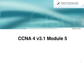 CCNA  4  v3. 1  Module 5