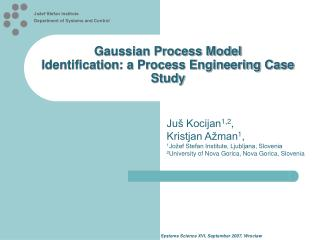 Gaussian Process Model Identification : a Process Engineering Case Study
