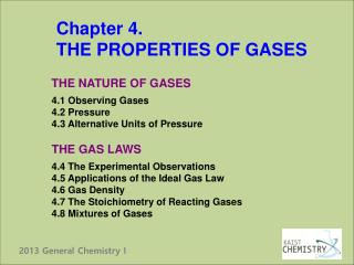 Chapter 4. THE PROPERTIES OF GASES
