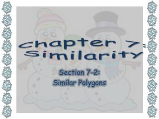 Chapter 7:  Similarity