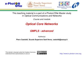 Optical Core Networks GMPLS - advanced
