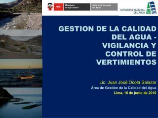 GESTION DE LA CALIDAD  DEL AGUA -  VIGILANCIA Y  CONTROL DE  VERTIMIENTOS