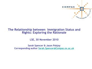 The Relationship between  Immigration Status and Rights: Exploring the Rationale