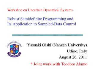 Robust Semidefinite Programming and Its Application to Sampled-Data Control