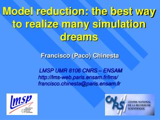 Model reduction: the best way to realize many simulation dreams