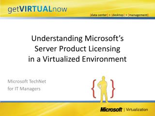 Understanding Microsoft s Server Product Licensing in a Virtualized Environment