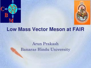 Low Mass Vector Meson at FAIR