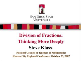 Division of Fractions: Thinking More Deeply