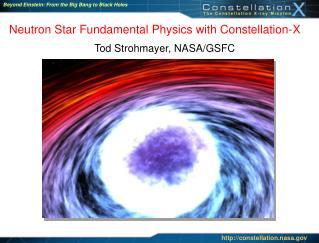 Neutron Star Fundamental Physics with Constellation-X