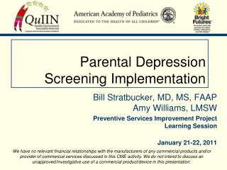 Parental Depression  Screening Implementation