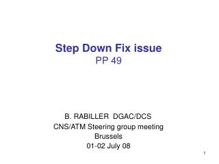 Step Down Fix issue PP 49