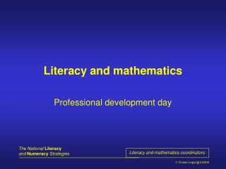 Literacy and mathematics