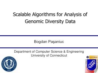 Scalable Algorithms for Analysis of Genomic Diversity Data