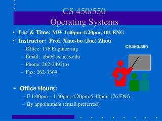 CS 450/550 Operating Systems
