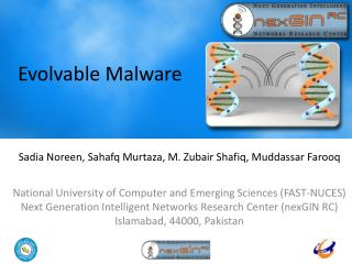 Evolvable Malware