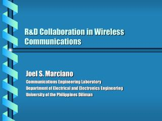 R&D Collaboration in Wireless Communications