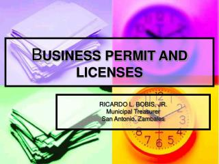 B USINESS PERMIT AND LICENSES