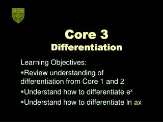 Core 3  Differentiation