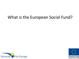 What is the European Social Fund?