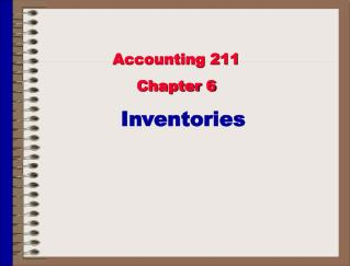 Accounting 211 Chapter 6