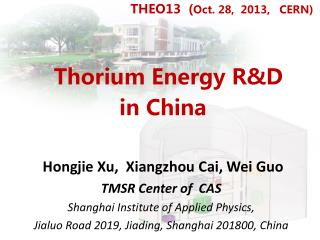 Thorium Energy R&D  in China