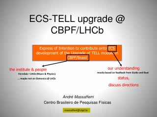 ECS-TELL upgrade @ CBPF/LHCb