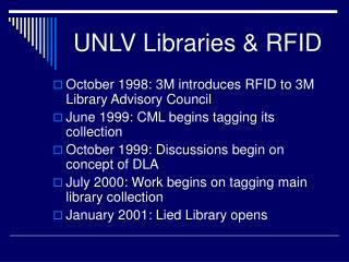UNLV Libraries & RFID