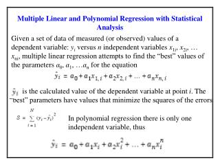 Multiple Linear and Polynomial Regression with Statistical Analysis