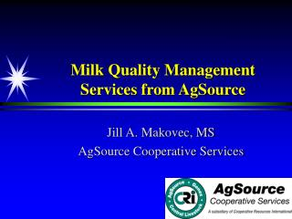 Milk Quality Management Services from AgSource