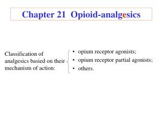 Chapter 21  Opioid-analg e sics