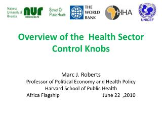 Overview of the  Health Sector Control Knobs