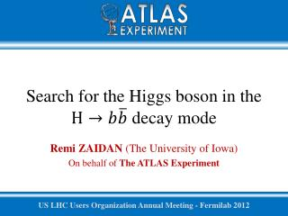 Search for the Higgs boson in the  decay  mode