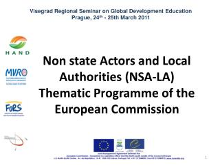 Non state Actors and Local Authorities (NSA-LA) Thematic Programme of the European Commission