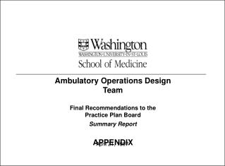 Ambulatory Operations Design Team