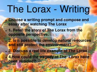The Lorax - Writing
