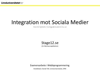 Integration mot Sociala Medier