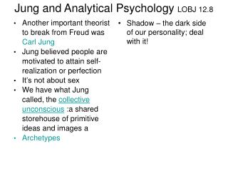 Jung and Analytical Psychology  LOBJ 12.8