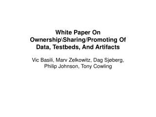 Goal of the White Paper