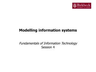 Modelling information systems