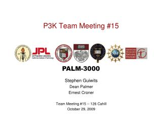 P3K Team Meeting #15