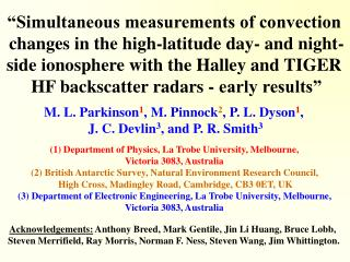 """Simultaneous measurements of convection  changes in the high-latitude day- and night-"