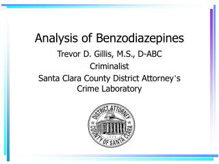 Analysis of Benzodiazepines